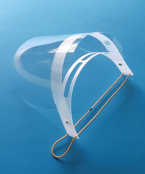 Pantalla de protección facial - Montura flexible y muy comoda