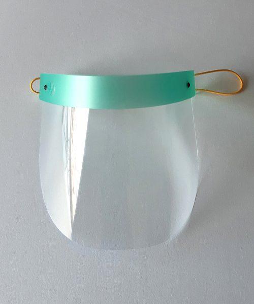 Protección facial para niños verde