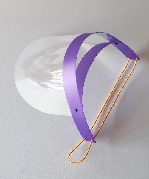 Protección facial para niños violeta