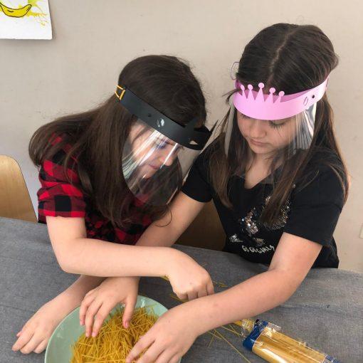 Protección facial para niños
